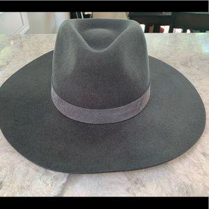 Anthropologie Black Rancher Hat